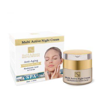 Crème de nuit multi-active Enrichi d'acide hyaluronique et d'extrait de caviar