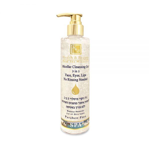 Micellar cleansing gel 3 in 1 - face eyes lips - No rinsing needed