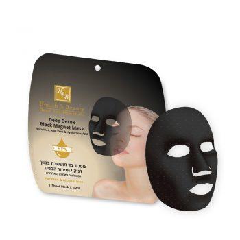 Detox en profondeur - masque noir magnétique avec de la boue, de l'Aloe Vera et de l'acide hyaluronique